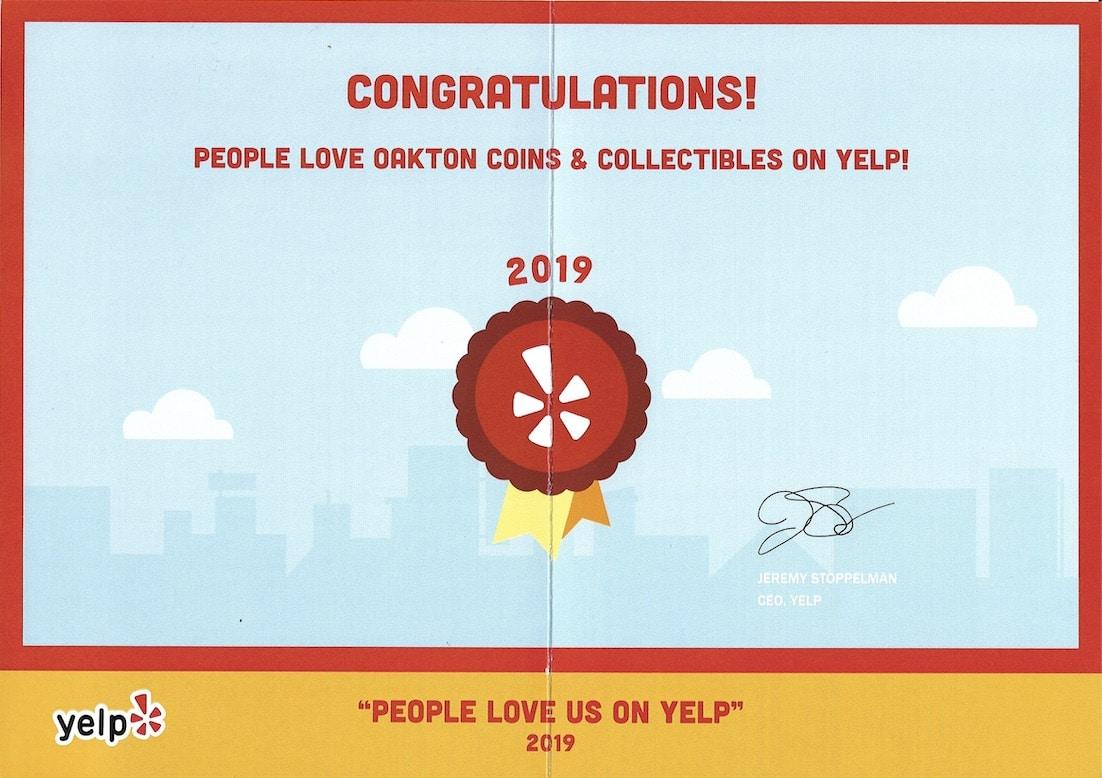 People love us on Yelp 2019