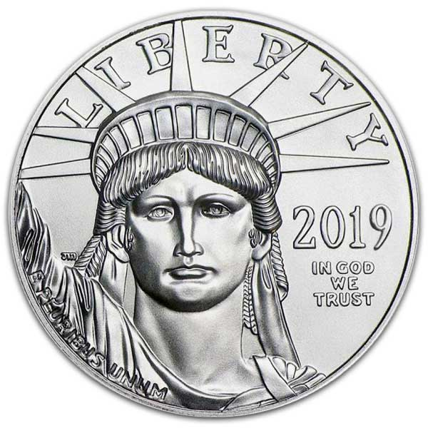 platinum coin front