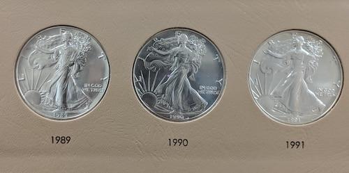 American silver dollars