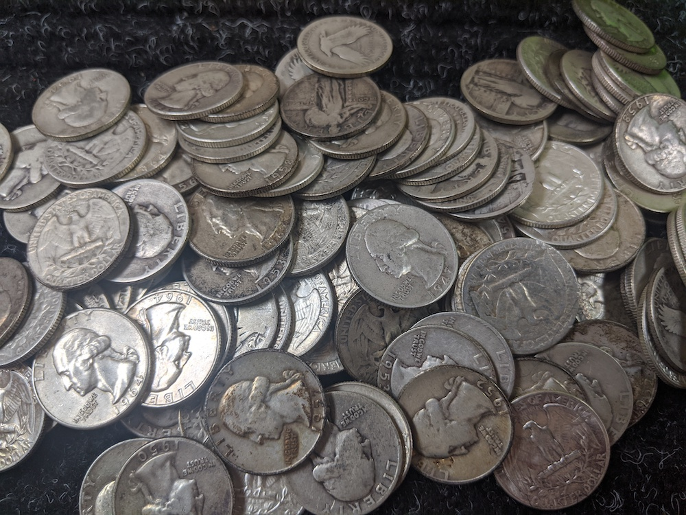 Types of United States Mint Quarters.