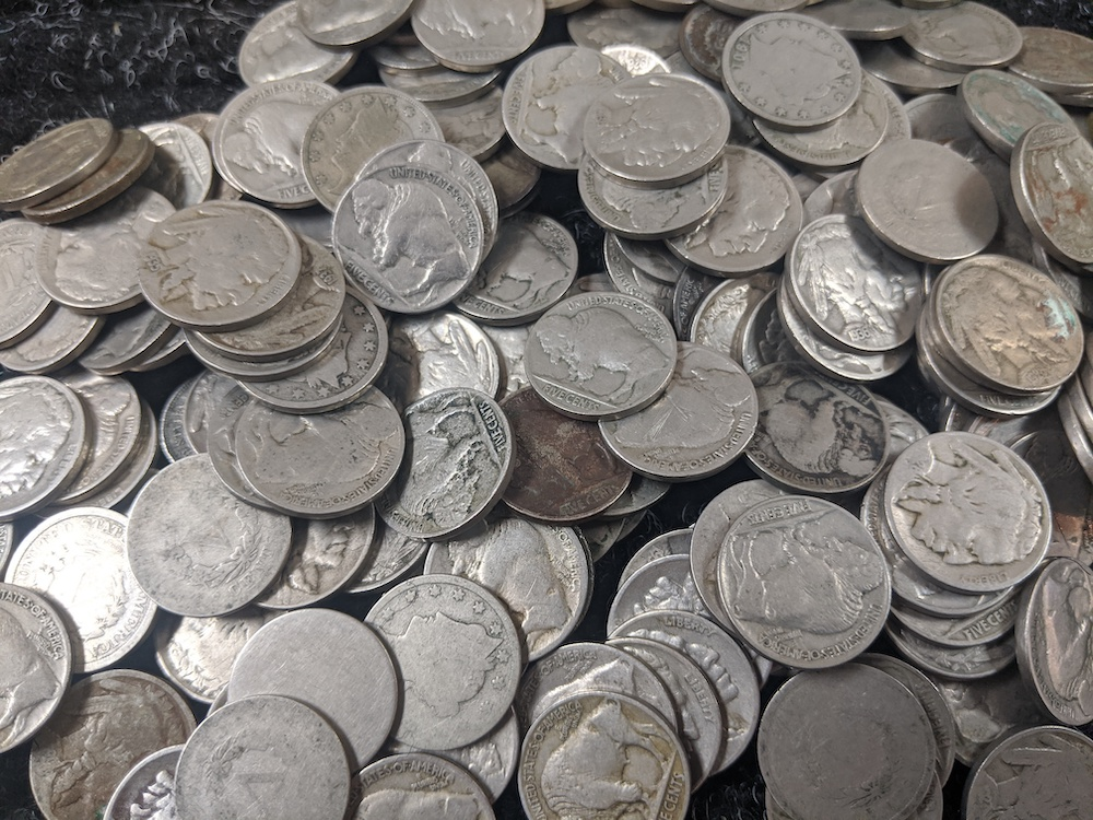 Types of United States Mint Nickels + Half Dimes.